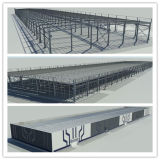 Sgs-anerkanntes niedrige Kosten-vorfabriziertes Stahlgebäude für Werkstatt