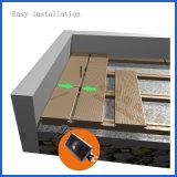 Decking esterno antiscorrimento di nuovo disegno WPC, pavimentazione di WPC