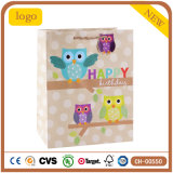 Geburtstag-Eulen-Kleidungs-Spielzeug-Andenken-Form-Supermarkt-Geschenk-Papierbeutel
