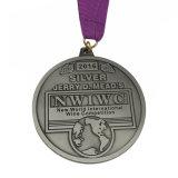 Plateerde het Antieke Tin van de Legering van het zink Medaille van de Toekenning van de Vorm van het Eiland de Lopende
