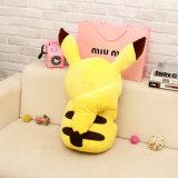Mama animal del color amarillo y juguete relleno cabrito de la felpa