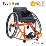 Presidenza di rotella manuale di sport del centro di pallacanestro di Topmedi del fornitore della Cina che corre sedia a rotelle