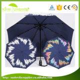 Mudar de cor Automático de silk-screen OPEN CLOSE 3 Dobre Umbrella