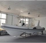 Liya 25pieds bateau gonflable Heavy Duty nervure de la coque de bateau en fibre de verre