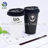 Custom биоразлагаемых двойные стенки 12oz одноразовых бумаги кофейные чашки с крышками