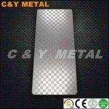Strato di goffratura decorativo dell'acciaio inossidabile 304 con rivestimento dello specchio e del Sand-Blast