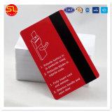 Cartão magnético do PVC do costume Matte da cor cheia