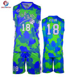 Sportkleidung-kundenspezifische Sublimation-Basketball-Uniform-spätester Basketball-Jersey-Entwurf