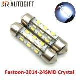 Lampadine di cristallo del festone eccellente di bianco 12V 3014 lampadine automatiche della lettura 24SMD