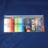 Embalagem especial para vestuários, eletrônica, alimento e presentes, sacos de plástico com cabeça do Zipper