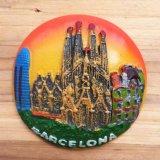 De goed-verkochte Magneet van de Koelkast van Polyresin van de Gift van de Herinnering van de Vlekken van de Toerist van Spanje 3D