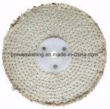 """roue de polissage de polissage du sisal 6 """" X1 """" pour le métal"""