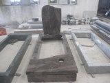 De zwarte Grafstenen van de Douane van de Grafzerk van de Monumenten van de Engel van de Monumenten van de Stijl van de Grafstenen van het Hart van &Gravestone van &Headstone van het Monument & van de Grafsteen van het Graniet Westelijke Goedkope