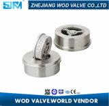 Dn80 válvula de verificação da bolacha do grampo do aço inoxidável 316, válvula de verificação de H71W-16p, tipo válvula do elevador de verificação fina unidirecional