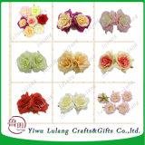 Rosa peonía cabezas de flores de seda artificial granel para Boda