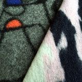 Wol Gebreide Stof, de Gebreide Stof van de Wol Polyester voor Overjas