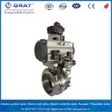 """Gesundheitliche mittlere motorisiertes pneumatisches 10 Drosselventil des Druck-1/2 """" - """" Tri Schelle"""