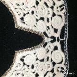 ultimo collare del merletto del cotone del ricamo di Applique del Neckline di 34*25cm per la forma di v Hm2045 della signora Blouse U