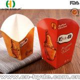 El pollo brutal imprimió la taza de papel frita de la viruta/las tazas fritas disponibles de la viruta