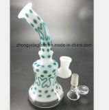 Novo tubo de vidro Hookah Cross-Crystal Recicladora Fumar Tubo de água