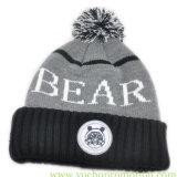 Крышка шлема зимы жаккарда Applique Embriodery Acrylic 100% женщин связанная Beanie связанная шлемом