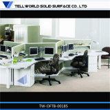 L modèle de bureau de commis de bureau de poste de travail de bureau de Tableau de bureau de bureau de forme
