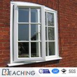 국내 기계설비 UPVC 여닫이 창 세겹에 의하여 부드럽게 하는 윤이 나는 Windows