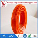 Sem cheiro colorido do PVC alimentar do tubo de borracha de trançado de fibra