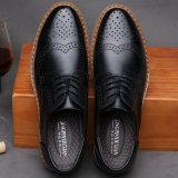 2017 ботинок Bussiness вола кожаный ботинок новых людей вскользь высеканных сбор винограда Breathable кожаный
