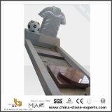 Monumento/pietra tombale/Headstone grigi di pietra naturali dei memoriali del granito