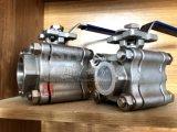 Manuel de l'extrémité filetée en acier inoxydable 3PCS Clapet à bille avec 2000wog