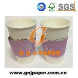 Втулка чашки кофе из гофрированного картона с логотипом печать