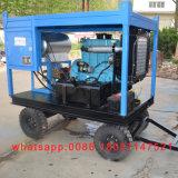 디젤 엔진 고압 물 모래 폭파 기계 녹 페인트 제거