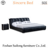 Mobilia moderna di cuoio reale Ys7017 della camera da letto della base