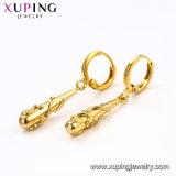 95135 Fashion Croix simple en alliage métallique Bijoux Gold-Plated Eardrop en 18K
