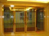 El fuego clasificó las puertas de cristal - oscilación abierto