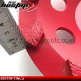 7inch de Segmenten van de pijl met M14 Wiel van de Kop van het Terrazzo het Concrete Malende