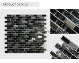 Küche Backsplash Beschaffenheits-Streifen-Mischungs-Farben-Edelstahl-Glasmischungs-Stein-Mosaik