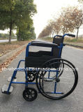 Acero, sillón de ruedas económico, plegable, manual