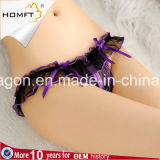 Новой шнурок вышитый конструкцией Frilly Crotchless t задыхается сексуальные прозрачные ушивальники