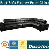 Горячие продажи коричневого цвета в форме буквы L Мебель кожаный диван (A34-1)