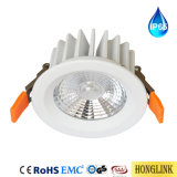 De Aluminio resistente al agua IP65 Die-Cast Episure COB Downlight LED