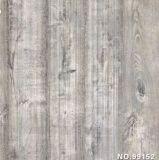 El papel decorativo impreso con el grano de madera se aplicó en la escalera, el panel de Wal, puertas, muebles, cocinas