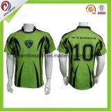 Las camisas especiales populares del rugbi del diseño modificaron jerseys del rugbi para requisitos particulares de la sublimación