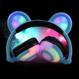 Nouveau modèle Lks LED lumineux pliable brevetés de l'oreille de l'ours panda écouteurs stéréo