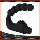 Spina anale di vibrazione del vibratore dei branelli di estremità della spina di vibrazione del silicone del Massager anale della prostata per la spina anale dei giocattoli adulti dei giochi del sesso