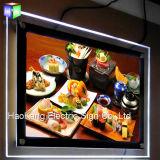 De Omlijsting van de LEIDENE Raad van het Menu voor de Vertoning van de Reclame van het Teken van het Snelle Voedsel van het Restaurant