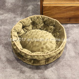 Het ronde Bed van de Hond van de Toebehoren van het Huisdier van het Stuk speelgoed van het Huisdier van de Kennel van de Levering van de Hond van het Huisdier van het Bed van het Huisdier Kleine