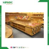 Hölzerner Vorstand-Supermarkt-Masse-Nahrungsmittel-/Imbiss-Nahrungsmittelverkaufsmöbel-Speicher-Fall/Waren-Regal