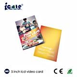 Folheto video da tela popular do LCD de 5 polegadas para a promoção/convite/o anúncio do negócio